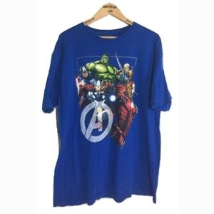 Men's Marvel The Avengers XL T-Shirt Blue RARE